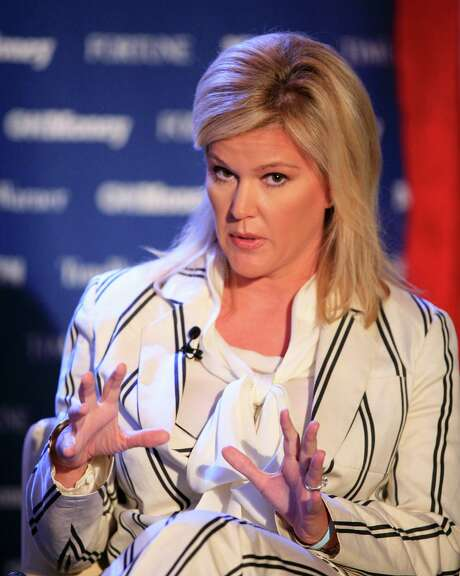 This photo taken June 15, 2009  shows Meredith Whitney, CEO of Meredith Whitney Advisory Group, LLC, speaking at Time Warner's headquarters in New York. Rising bank stocks propelled indexes to their biggest one-day gain in six weeks Monday July 13, 2009 after influential banking analyst Meredith Whitney raised her rating on Goldman Sachs Group Inc. (AP Photo/Mark Lennihan) Photo: Mark Lennihan, STF / AP