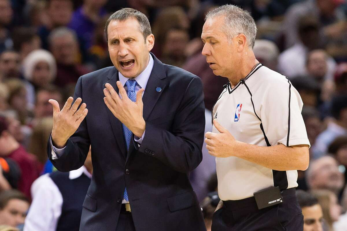 Cavaliers coach David Blatt. Oh, the anguish! (Photo by Jason Miller/Getty Images)