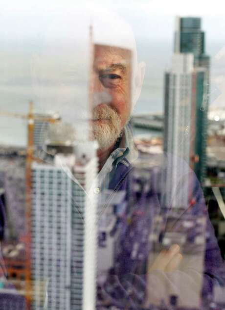 Futurist Peter Schwartz is senior vice president for strategic planning at Salesforce. Schwartz foresees a vertical city with privately owned cars replaced by shared self-driving vehicles. Photo: Scott Strazzante / The Chronicle / ONLINE_YES