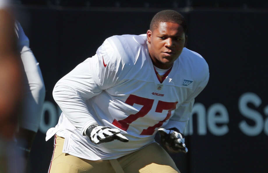 Trent Brown, 49ers right tackle, played well against the Bengals and may make his first start against the Detroit Lions. Brown is strong and fast for a big man and is consistently improving. Photo: Scott Strazzante / The Chronicle / ONLINE_YES