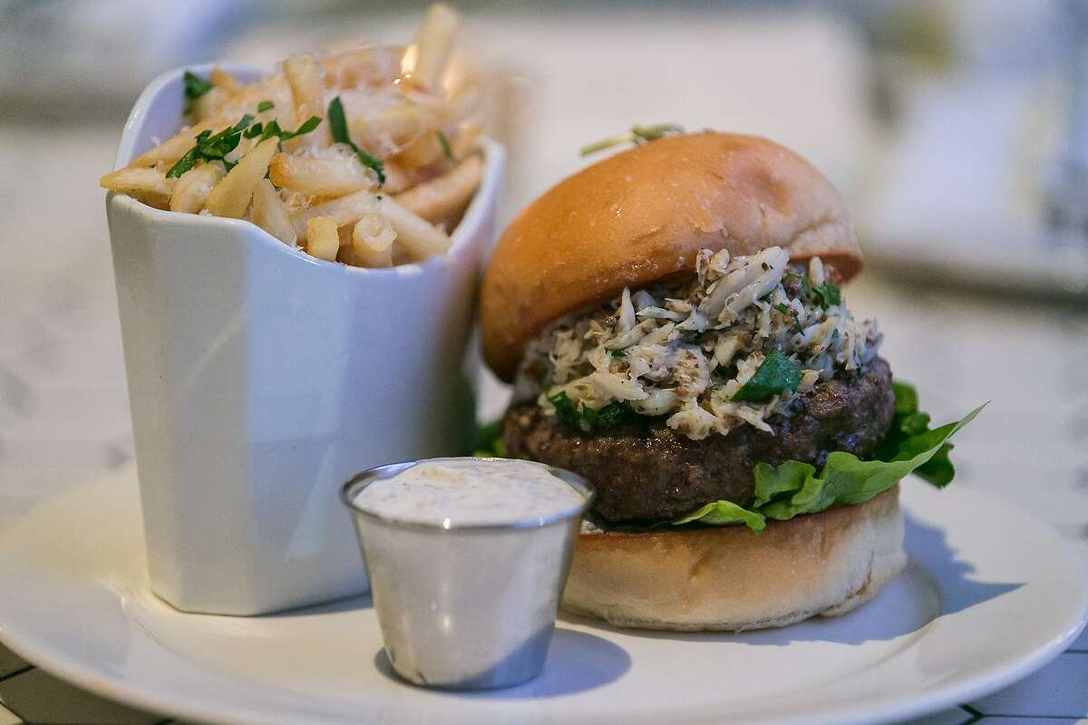 The Royal Dorian: A $40 burger that comes with crab and truffle fries.
