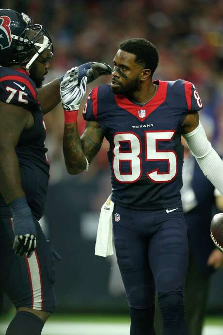 Veteran receiver Nate Washington applauds the manner in which Texans coaches tailor players within the system. Photo: Karen Warren, Staff / © 2015 Houston Chronicle