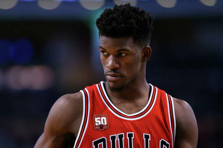 BOSTON, MA - DECEMBER 09:  Jimmy Butler #21 of the Chicago Bulls looks on during the second half against the Boston Celtics at TD Garden on December 9, 2015 in Boston, Massachusetts. The Celtics defeat the Bulls 105-100.  (Photo by Maddie Meyer/Getty Images) Photo: Maddie Meyer, Staff / 2015 Getty Images