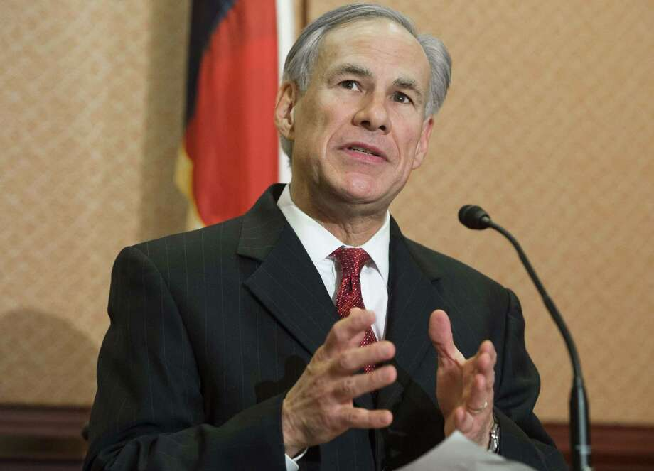 """Texas Republican Governor Greg Abbott speak about the Senate bill, """"Terrorist Refugee Infiltration Prevention Act of 2015"""", which would prevent refugees into the US from Iraq, Syria or any country substantially controlled by a terrorist organization, during a press conference on Capitol Hill in Washington, DC, December 8, 2015. AFP PHOTO / SAUL LOEBSAUL LOEB/AFP/Getty Images Photo: SAUL LOEB, Staff / AFP"""