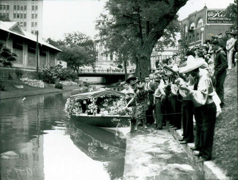 A reader is looking for a film about the River Walk in which her stepfather, Ro- bert H. Turk, superintendent of the original 1939-1941 project, was interviewed. Photo: Courtesy Photo /UTSA Special Collections / Institute of Texan Cultures