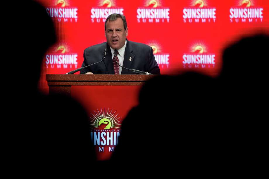 Gov. Chris Christie of New Jersey reflects on the Sept. 11 attacks during a summit in Orlando in November. He has begun touting his tenure as U.S. attorney as a time spent battling terrorism.  Photo: STEPHEN CROWLEY, STF / NYTNS