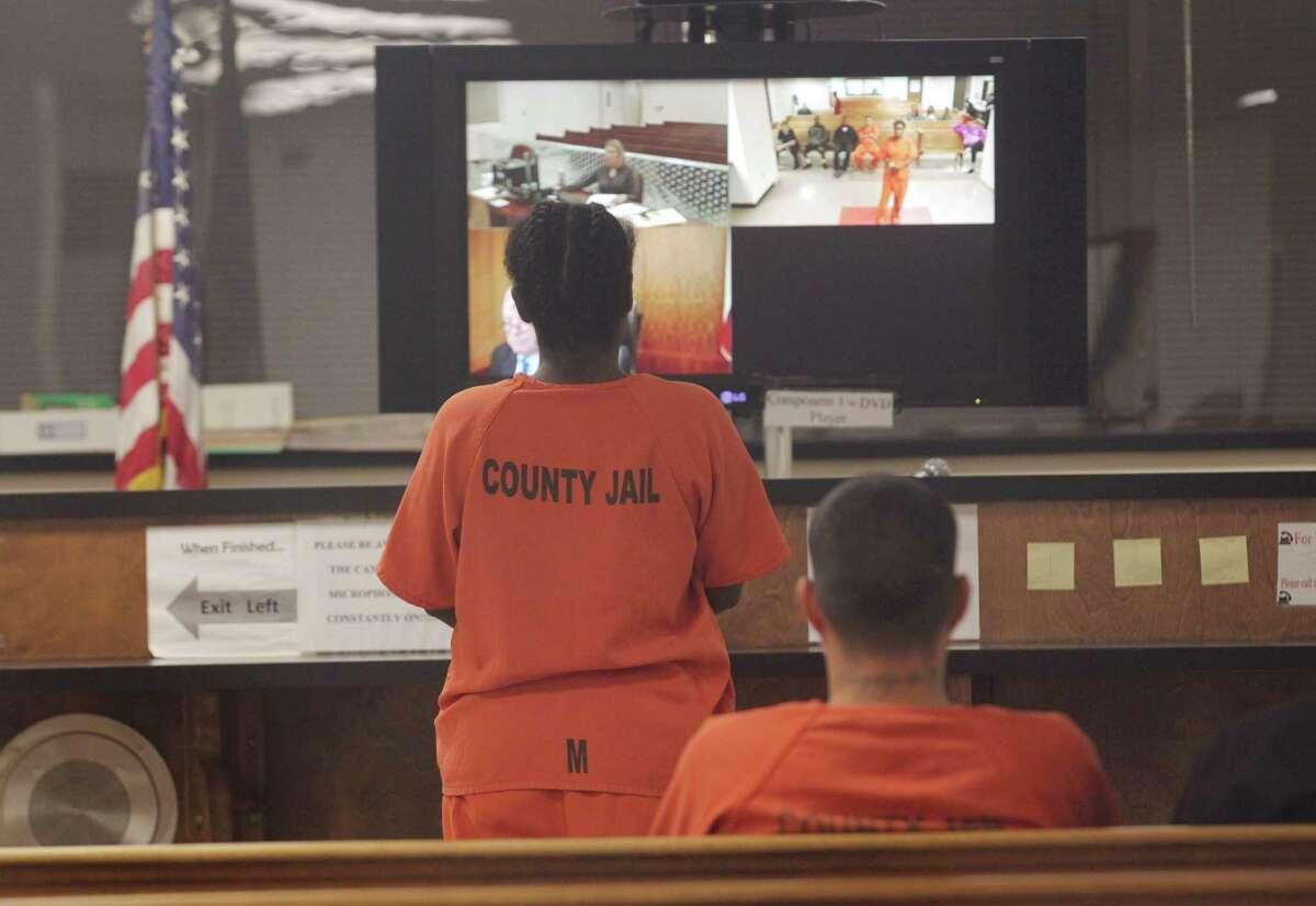 Bond is set for defendants in probable cause court Thursday, Dec. 3, 2015, in Houston. ( Jon Shapley / Houston Chronicle )