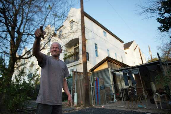 Kenneth Coleman, 69, has lived for 25 years in Shady Acres, where his trailer home now sits right next to half-million-dollar townhomes in the changing community.