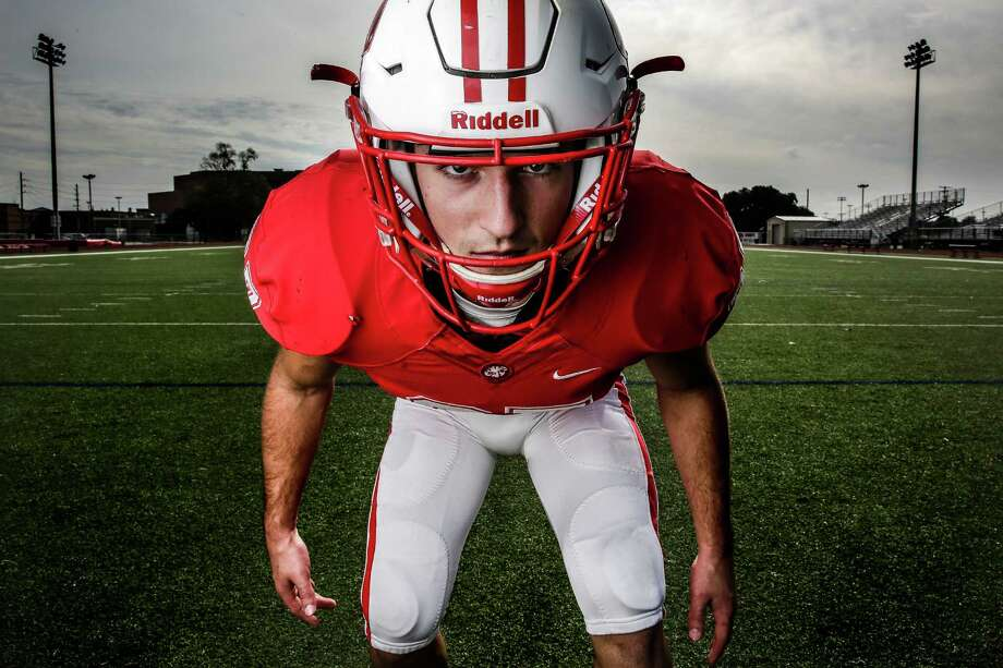 Katy safety Collin Wilder is the All-Greater Houston defensive Player of the Year Tuesday, Dec. 22, 2015, in Katy. ( Michael Ciaglo / Houston Chronicle ) Photo: Michael Ciaglo, Staff / © 2015  Houston Chronicle