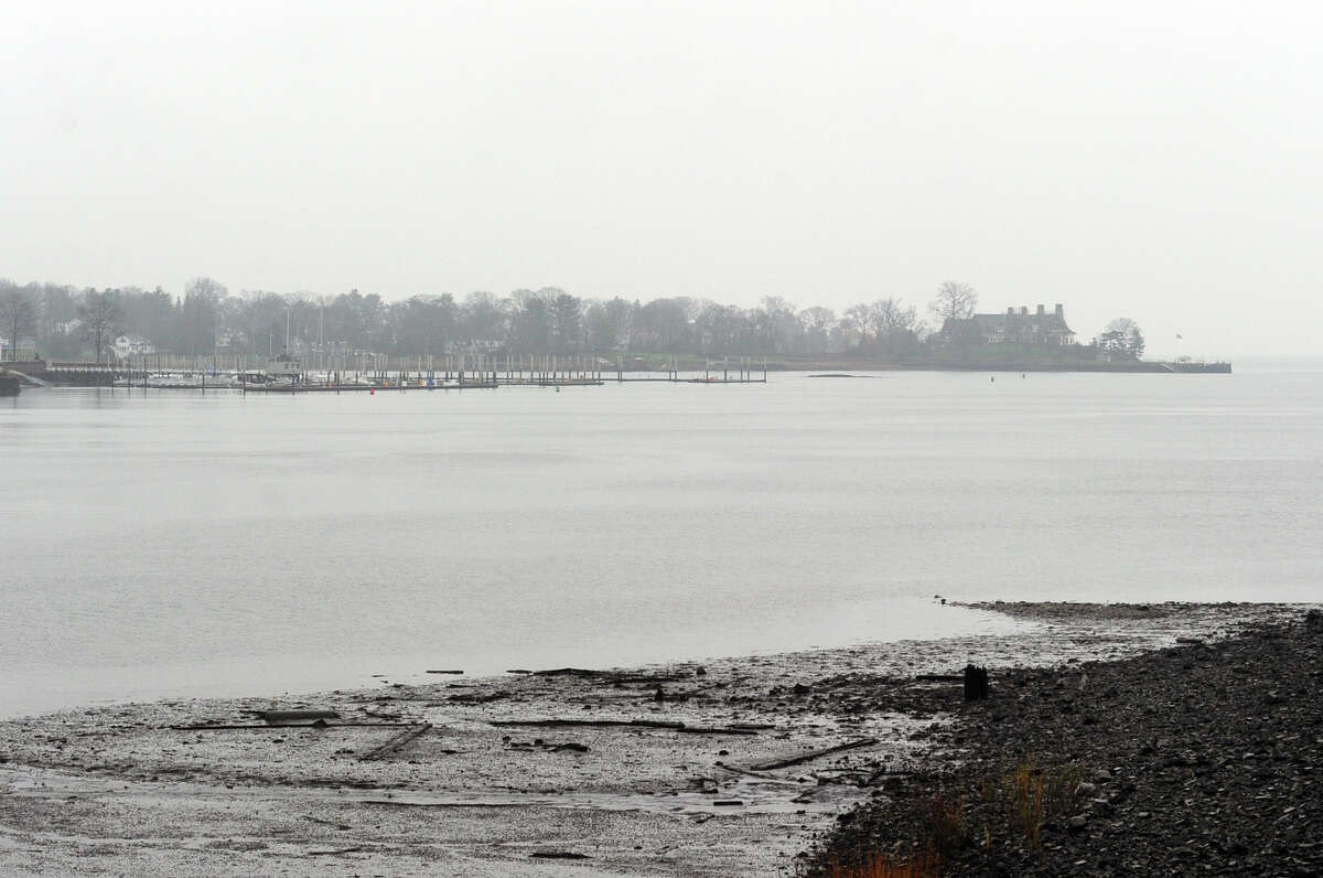 Cos Cob Harbor during low-tide in Greenwich, Conn., Wednesday, Dec. 23, 2015. A $3 million project to dredge the lower Mianus River at Cos Cob Harbor depends on resolution of a dispute over The U.S. Army Corps of Engineers' plan to continue dumping dredged material in Long Island Sound.