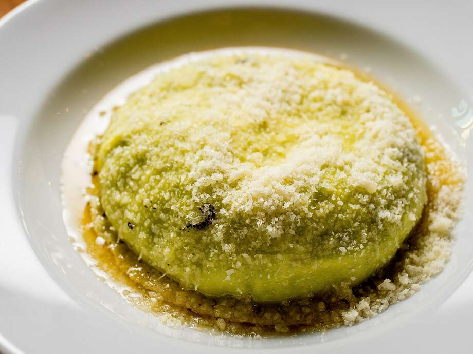 Raviolo al Uovo at Nostra Spaghetteria in San Francisco. Photo: John Storey, Special To The Chronicle