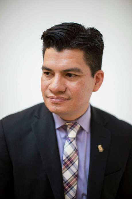 Edward Benavides, the new CEO of the tricentennial celebration for the city, stands for a portrait at the Centro de Artes building in Market Square in San Antonio, Texas on December 15, 2015. Photo: Carolyn Van Houten / Carolyn Van Houten / 2015 San Antonio Express-News