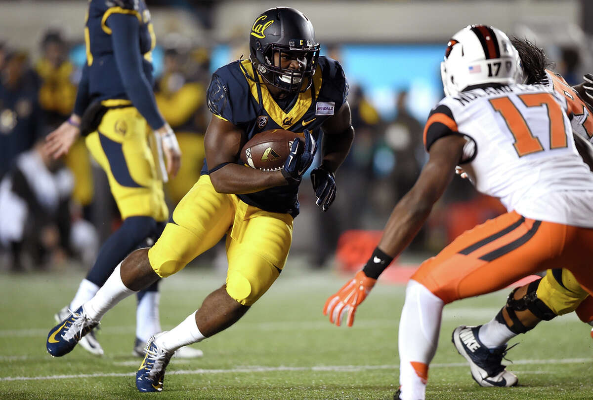 One of six Texans on Cal's roster, running back Vic Enwere went to a school near Houston that has six practice fields.