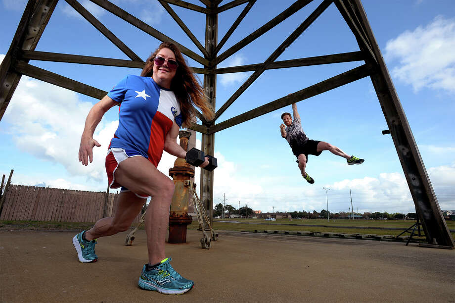 Amie and Richard James, who head the Gusher Marathon, say they will be adding additional physical challenges after the race that are themed around working on oil rigs.  Photo taken Friday, December 11, 2015  Guiseppe Barranco/The Enterprise Photo: Guiseppe Barranco, Photo Editor