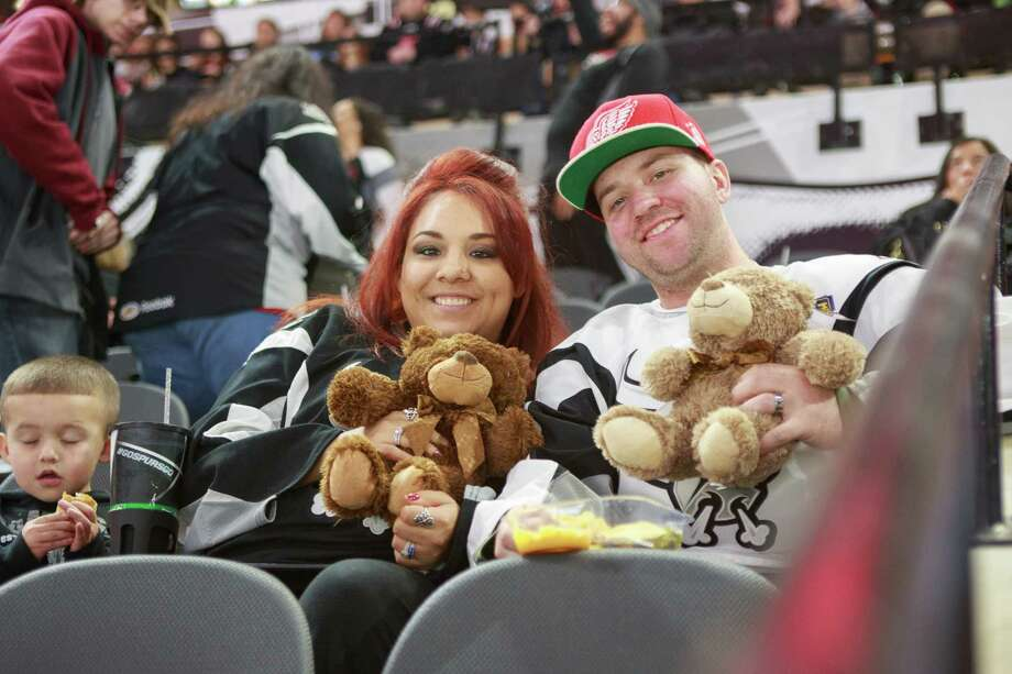 Hockey fans and their teddy bears packed the AT&T Center for the San Antonio Rampage match against the Texas Stars and the annual Teddy Bear Toss presented by H-E-Bon Sunday, December 27, 2015. Photo: San Antonio Express-News
