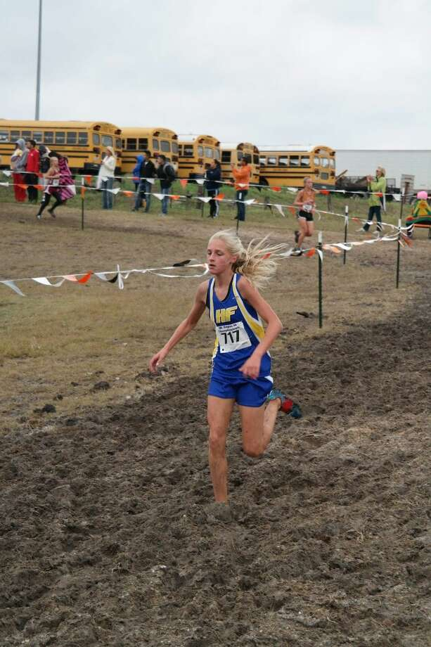 Camille Harris  Hamshire-Fannett's freshman Camille Harris has played a vital role in helping the Lady Horns reach the cross country state meet. Photo: Submitted Photo