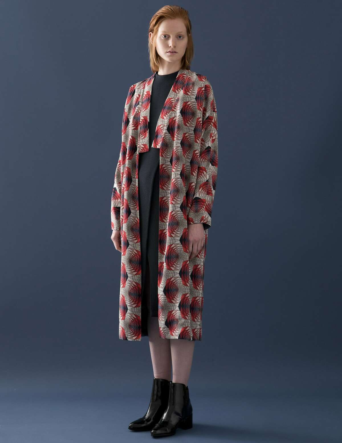 """The Rene Coat from Silvae (Seattle), $640, """"features a silk fabric of her own design on the outside, and a linen/cupro blend on the inside,"""" says Lexington Standard co-owner Mark Lee Morris."""