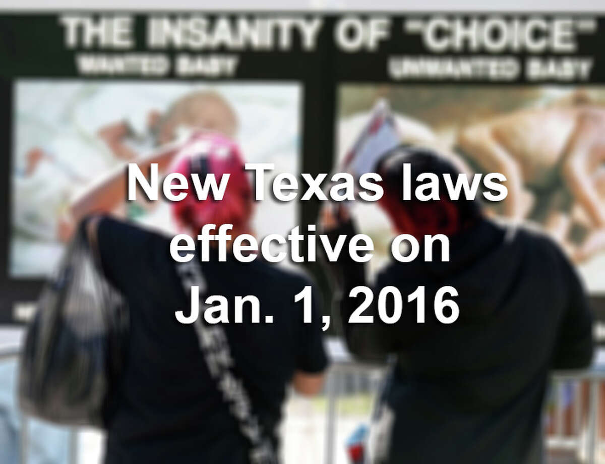 Scroll through the slideshow for 13 new laws that will take effect in Texas on Jan. 1, 2016.