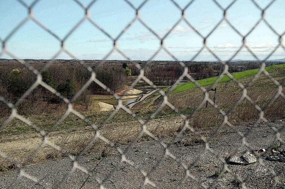 A View Through Fence At The Rapp Road Landfill On Monday March 26