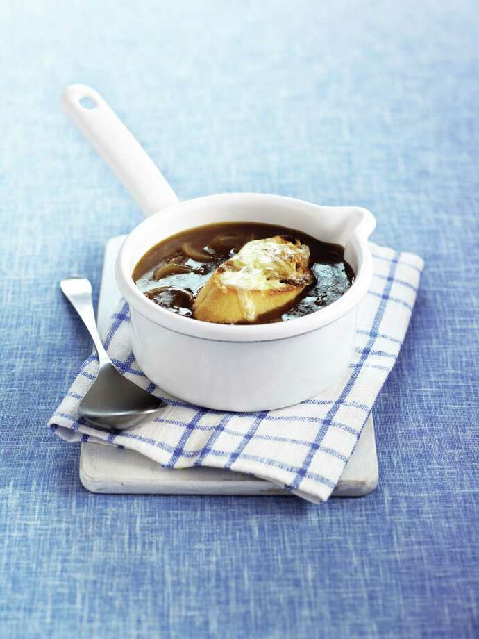 CARAMELIZED ONION SOUP  From vs by Sara Lewis Photo: Stephen Conroy
