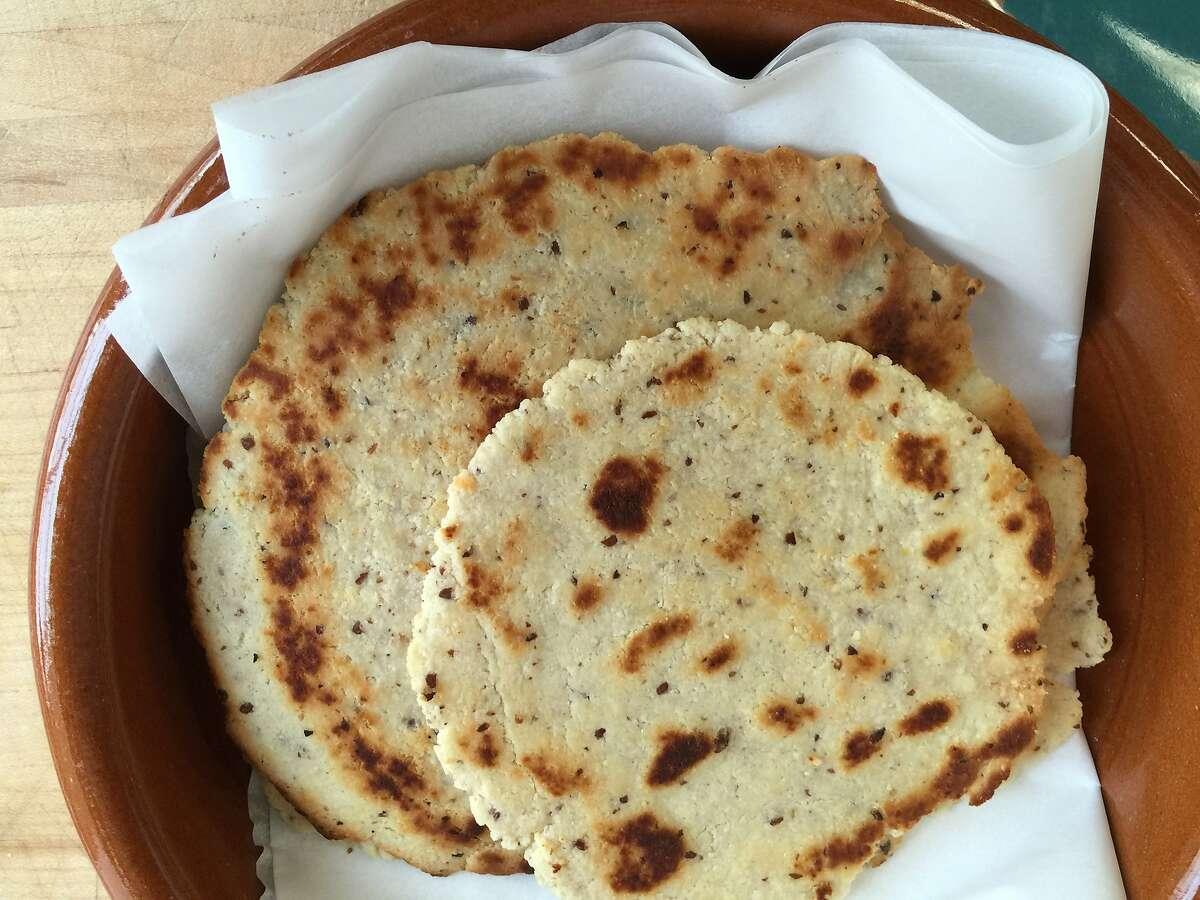 Almond-flax tostadas are a good gluten-free option