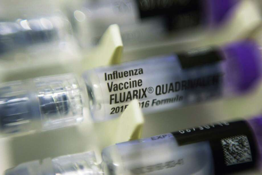 Single dosage syringes of the Fluarix quadrivalent influenza virus vaccine in New York. Photo: Patrick Sison / Associated Press / Associated Press