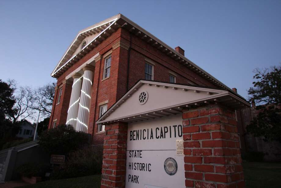 Originally constructed as a city hall, the Benicia Capitol was used as the California Statehouse from Feb. 9, 1853, to Feb. 25, 1854. Photo: Spud Hilton, The Chronicle