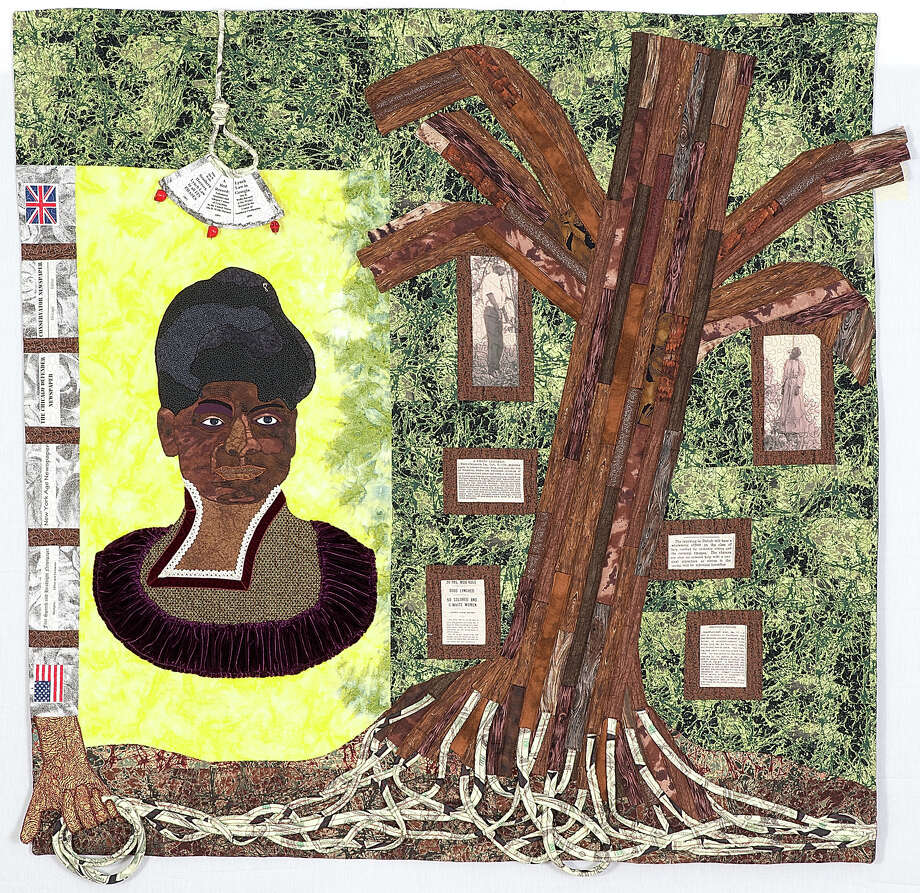 """""""An Extraordinary Woman for No Ordinary Day,"""" 2012, by Sauda A. Zahra, is part of an exhibit of quilts, """"And Still We Rise: Race, Culture and Visual Conversations,"""" set to open at the Bruce Museum Jan. 16. Photo: Contributed / Contributed Photo / Greenwich Time Contributed"""