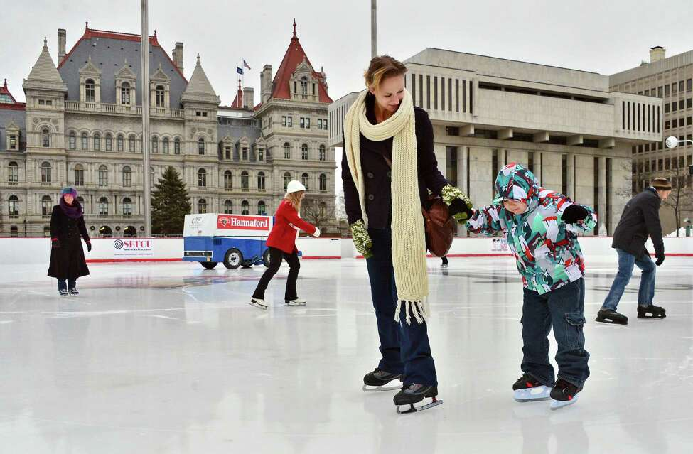 Ice Rink Opening Day. Free rentals every Friday. Usual rental rates: $3 for kids, $4 for adults.When: Friday, Dec. 2, 11 AM - 8 PM. Where: Empire State Plaza, Albany. For more information, visit the website.