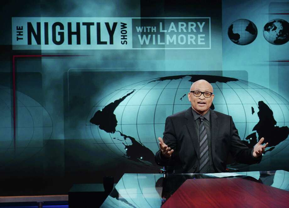 "Larry Wilmore, host of Comedy Central's ""The Nightly Show With Larry Wilmore,"" is less preoccupied with humor than anyone else who's ever occupied a mock-news chair. Instead, he brings good old finger-wagging. Photo: Stephen Lovekin, Stringer / 2015 Getty Images"