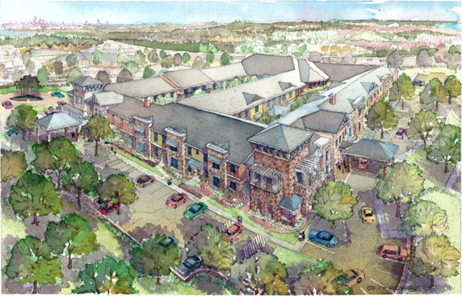 The $61 million Watercrest at Dominion, a retirement community under construction at The Dominion, is scheduled for completion in May. The development is by Integrated Real Estate Group of Southlake. Photo: Integrated Real Estate Group
