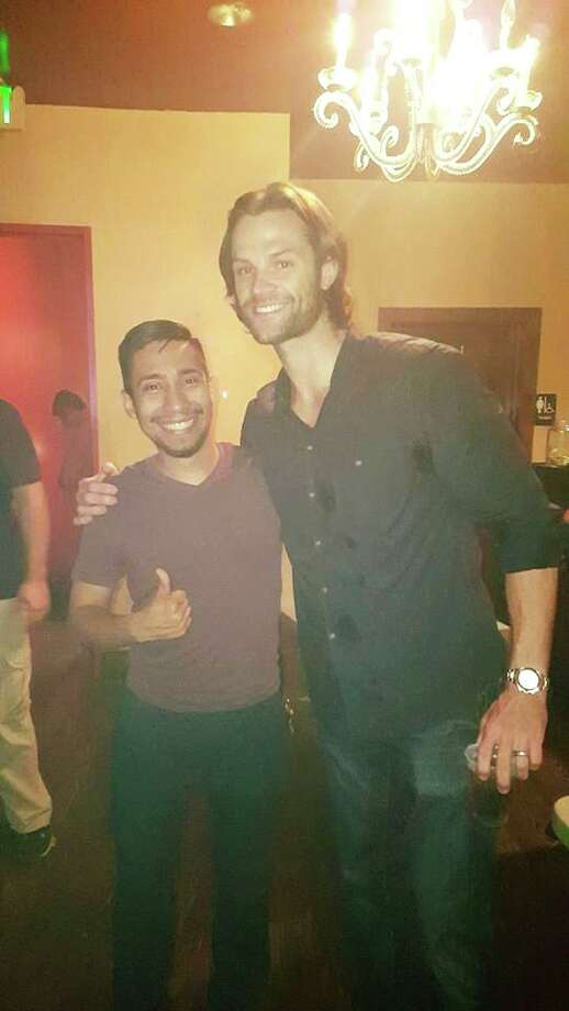 """Jared Padalecki spent his Saturday night out on the town with his fellow San Antonians at Pat O'Briens after wrapping up """"Supernatural"""" filming. Photo: Provided By Joshua Meneses"""
