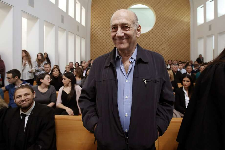 Ex-Prime Minister Ehud Olmert awaits a ruling by Israel's Supreme Court, which cut his 6-year sentence to 18 months. Photo: Gali Tibbon, Associated Press