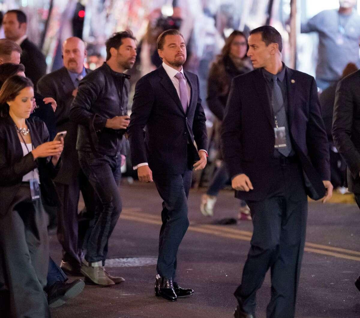 Everybody be cool ... Leonardo DiCaprio is seen on Dec. 16, 2015 in Los Angeles.