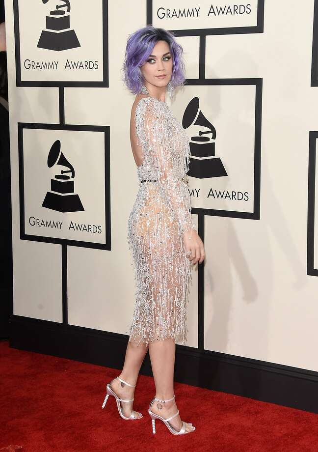 Trend to ditch in 2016: Nude dressing. We're over overexposure. Seen here: Katy Perry attends The 57th Annual GRAMMY Awards. Photo: Jason Merritt, Getty Images