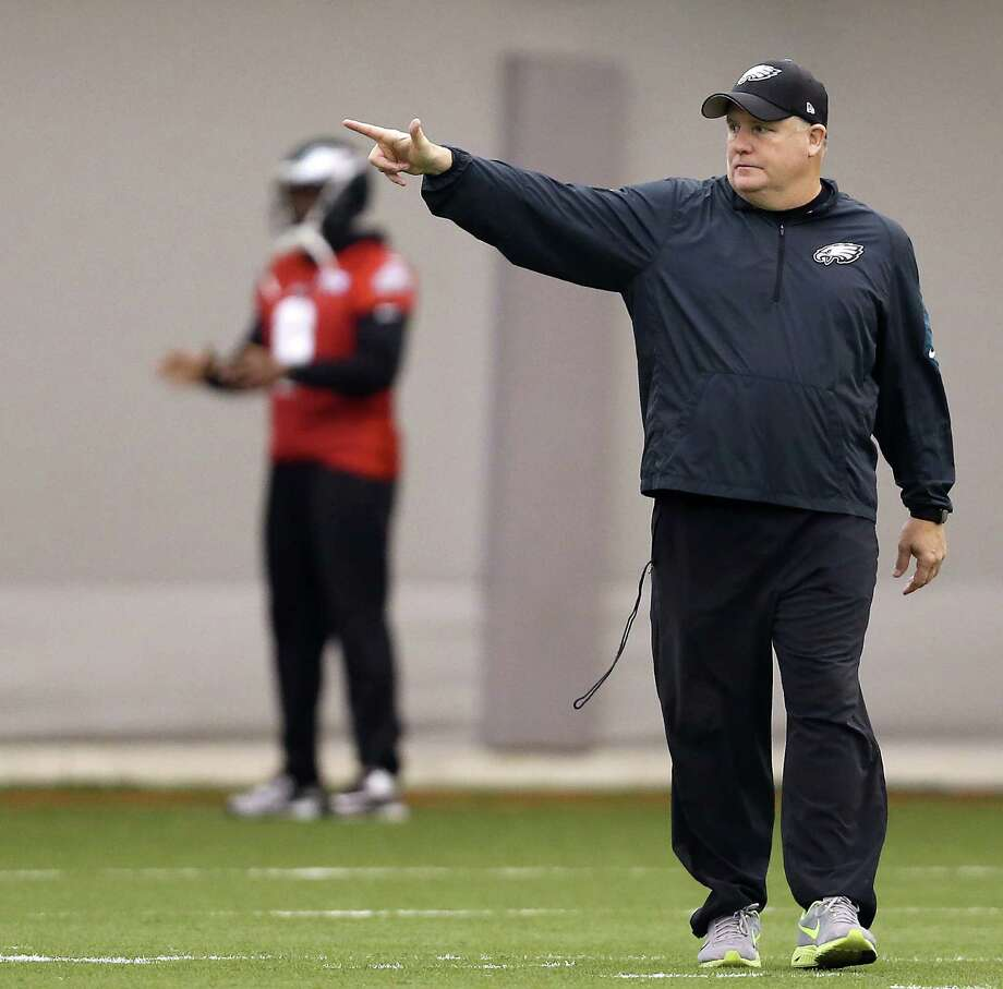 Chip Kelly, former head coach of the Philadelphia Eagles, will be interviewed on Thursday for the 49ers head coaching position. Photo: David Maialetti, AP / The Philadelphia Inquirer