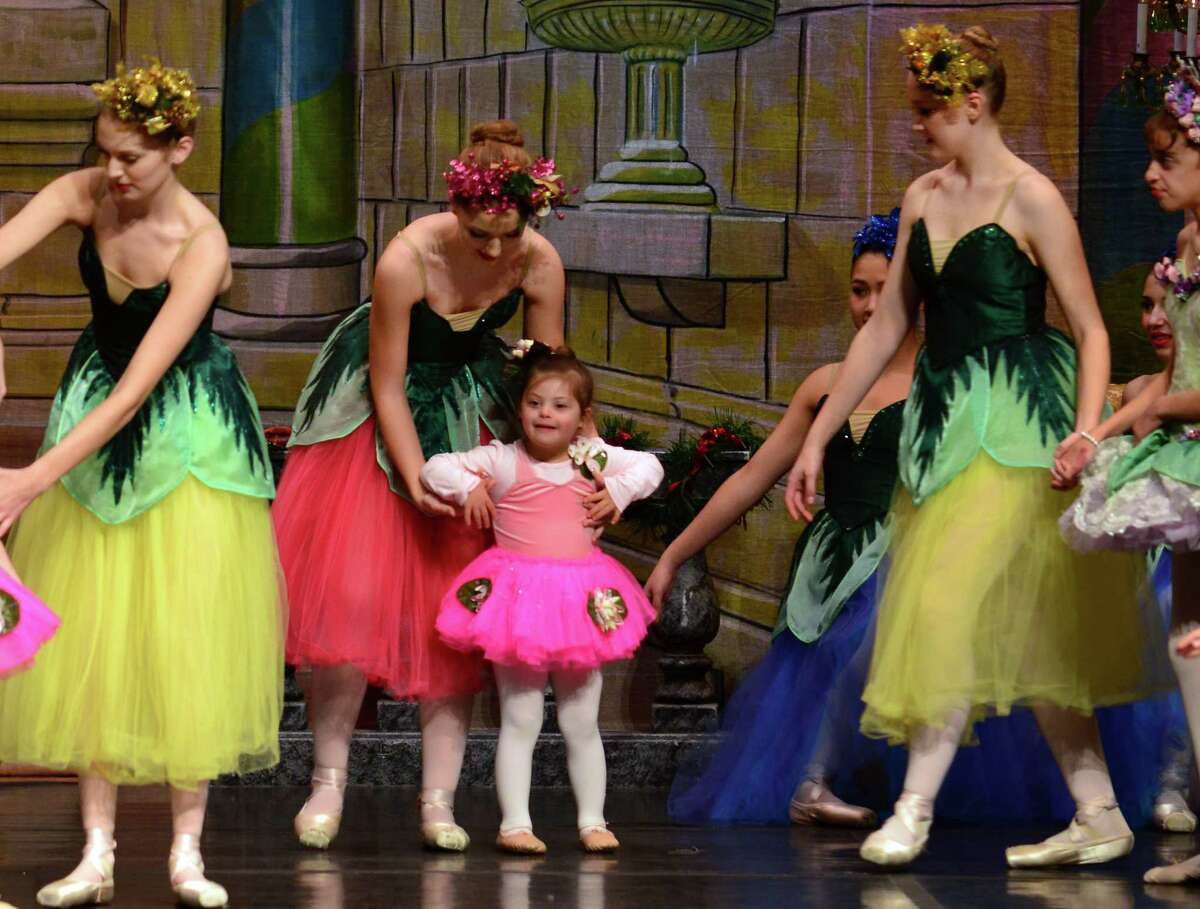 The New England Ballet Company performs the Nutcracker Suite with special needs children from the Milford Adaptive Dance Program at the Parsons Goverment Complex Auditorium in Milford, Conn. on Friday Dec. 11, 2015.