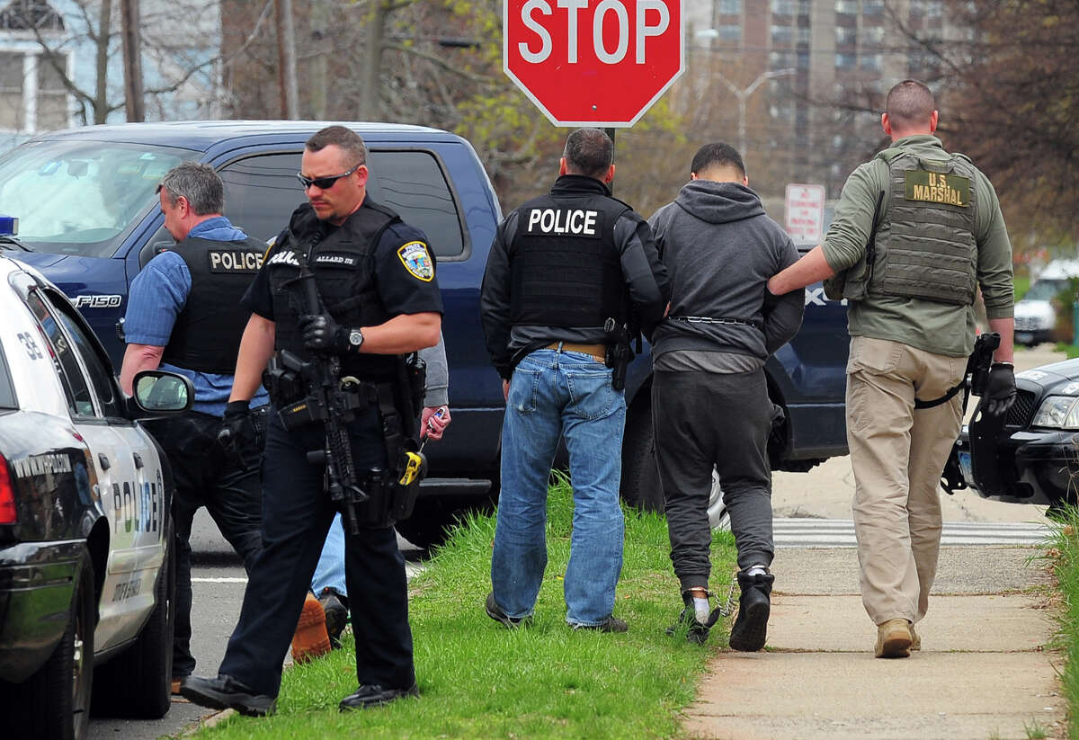 Treizy Lopez, who police say is a suspect in the April 11 fatal shooting of store owner Jose Salgado, was arrested arrested Monday April 27 by West Haven police, members of the state police and the U.S. Marshall Service.