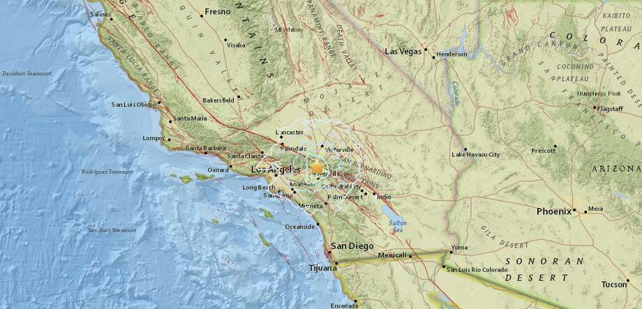 A magnitude-4.3 earthquake hit Southern California Tuesday night, just six miles northwest of Rialto, Calif.