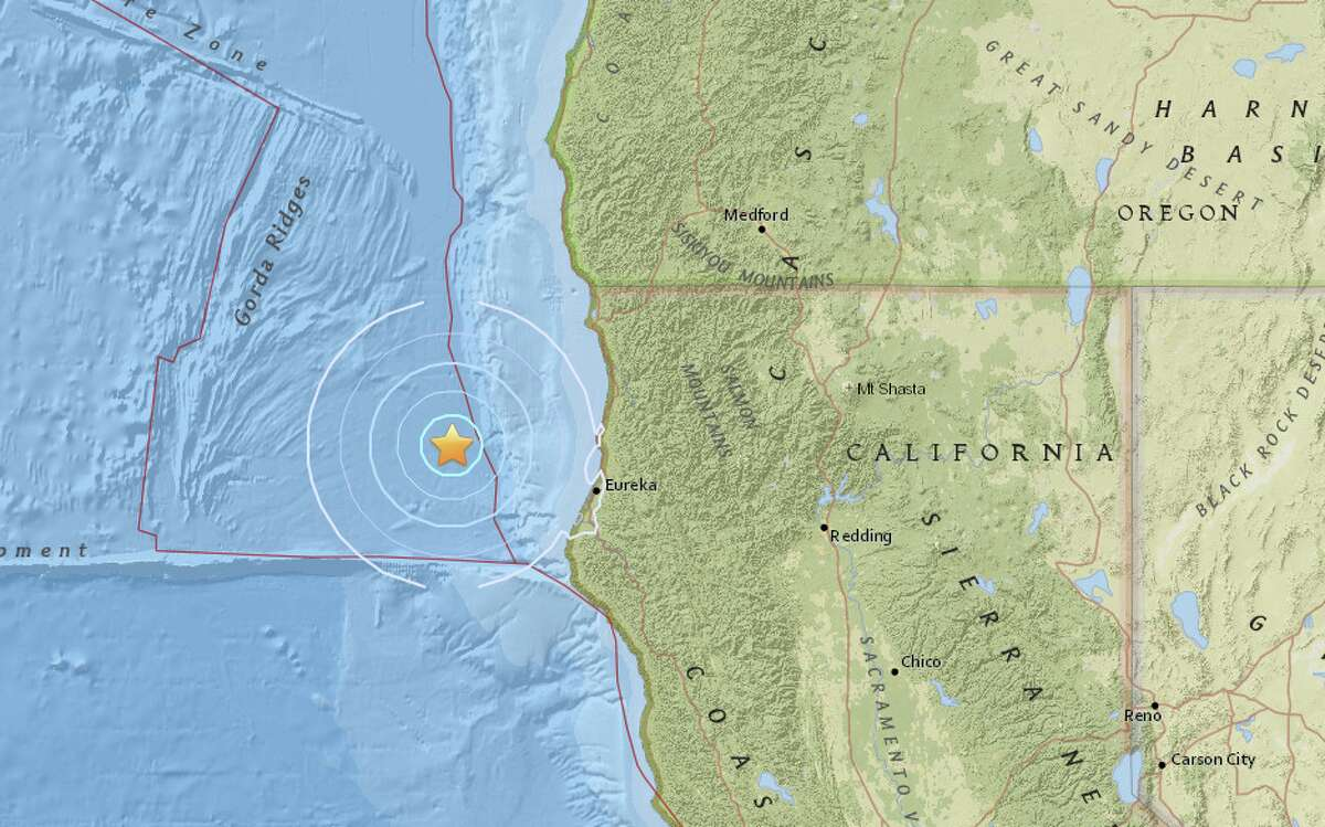 The second tremblor in two days struck offshore of Northern California, 61 miles northwest of Eureka. This quake measured a magnitude-4.9.