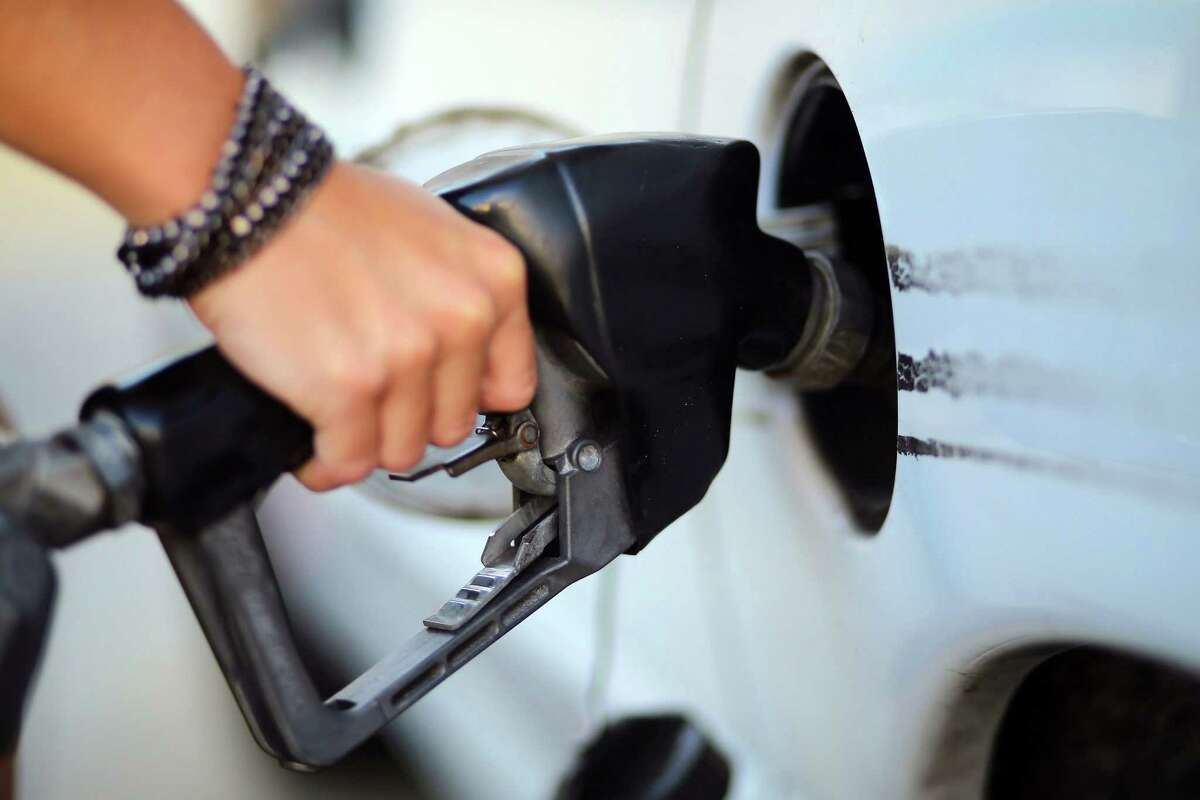 Gasoline prices in the Houston area on Tuesday were as low as $1.49 a gallon and as high as $2.69 per gallon.