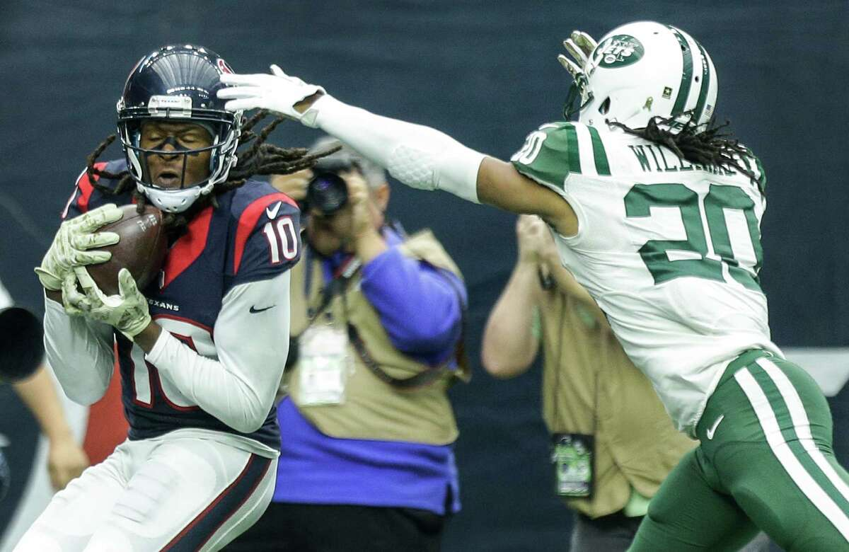 DeAndre Hopkins beats Marcus Williams for a TD catch in the Texans' win over the Jets, who haven't lost since.