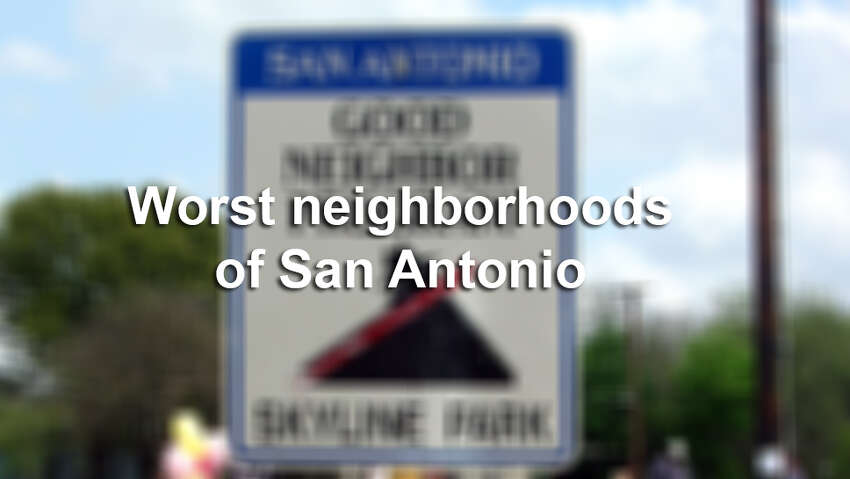 Neighborhoods with the worst crime and least educated residents.