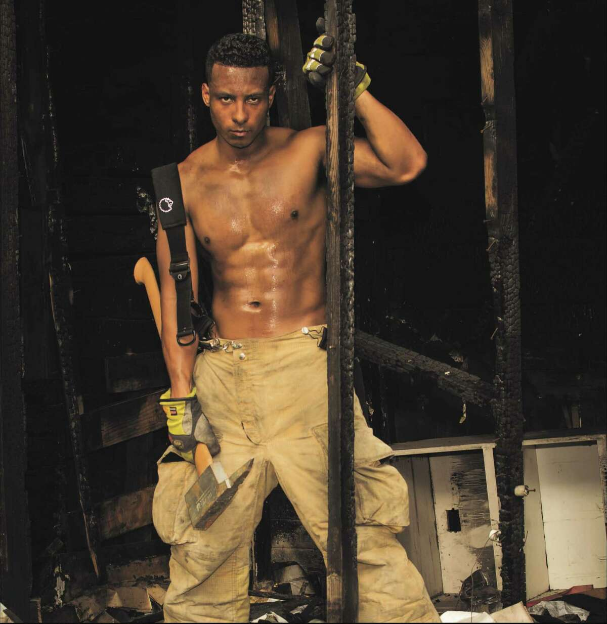 Medical Center resident Shawn Morris is a model in the Houston Fire Fighters Burned Children's Fund 2016 Calendar.