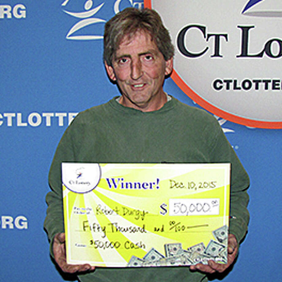 Robert Durgy of Danbury, made a spur of the moment decision at the counter to buy a CT Lottery instant game ticket. He won the top prize on a $50,000 Cash instant ticket. Photo: Connecticut Lottery