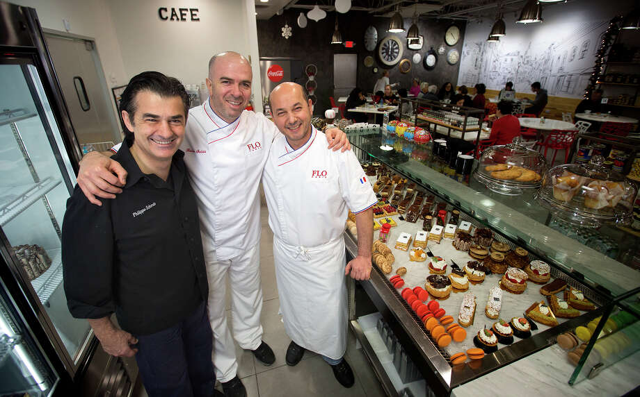 Savory chef Philippe Schmit; chef/owner Rabih Salibi; and pastry chef Dani Srour stand at Flo Paris, Monday, Dec. 28, 2015, in Houston. Photo: Cody Duty, Houston Chronicle / © 2015 Houston Chronicle
