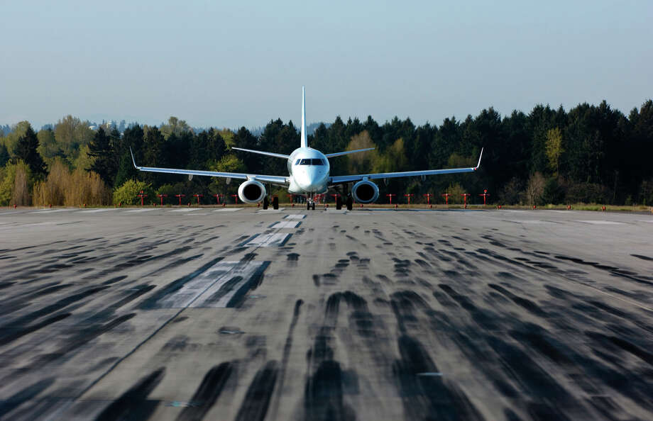 A jet on at runway at Sea-Tac Airport. Photo: Don Wilson / Port of Seattle