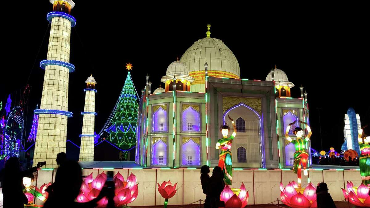 From the 2015 event: The Taj Mahal is one of the many lantern installations at Magical Winter Lights.