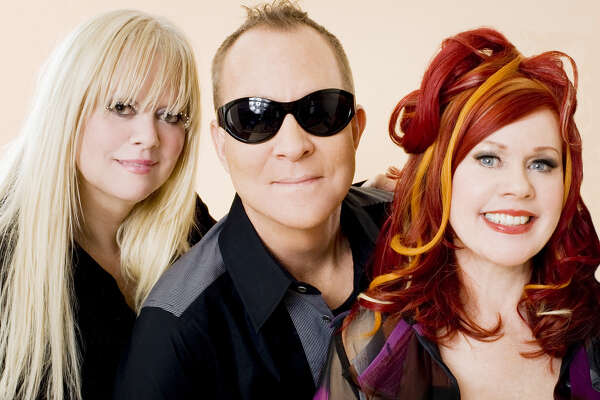 Pop band the B-52s, featuring from left Cindy Wilson, Fred Schneider, Kate Pierson