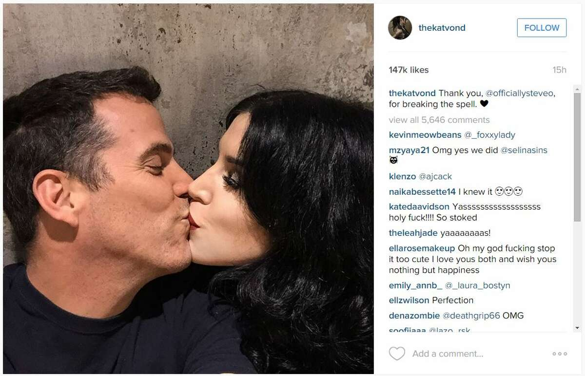 Celebrities Steve-O and Kat Von D are getting close to each other, as the two appear to be the newest Hollywood couple.